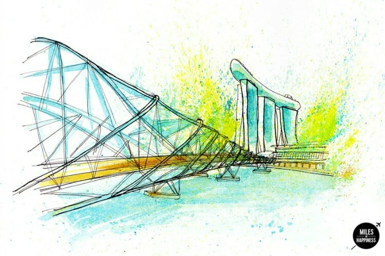 photo, image, images of singapore, helix bridge