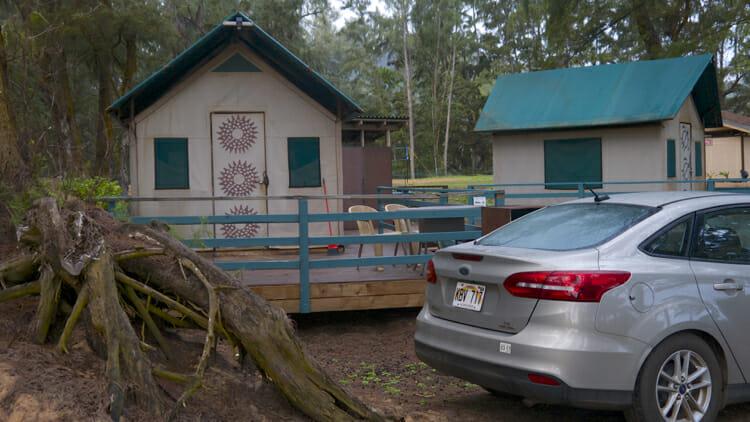 My yurt at Kumu Camp in Anahola.