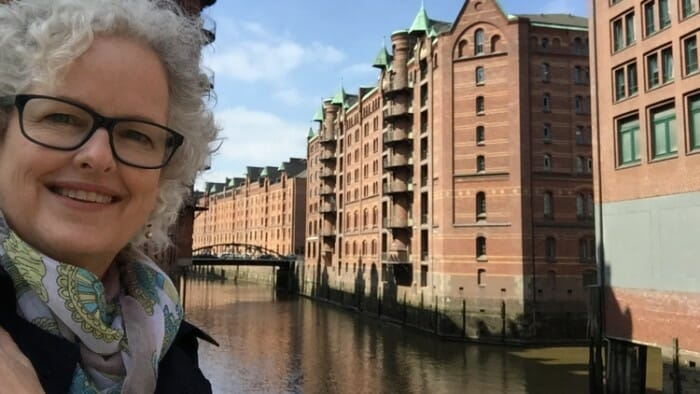 I've traveled exotic places like India, challenging places like Patagonia, iconic cities like New York and London... and yes, I'm an introvert. Here I'm in Hamburg, Germany.