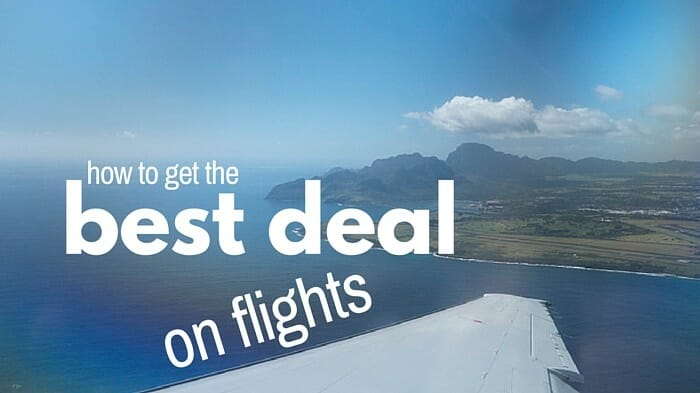 hot to get the best deal on flights