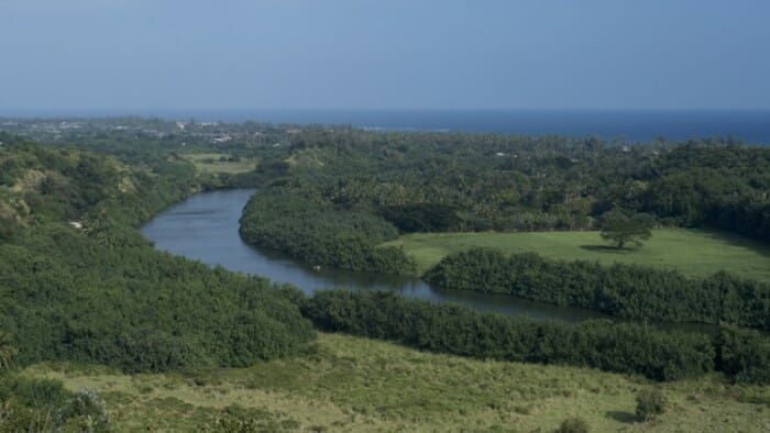 Wailua Valley viewed from the Waialu State Park