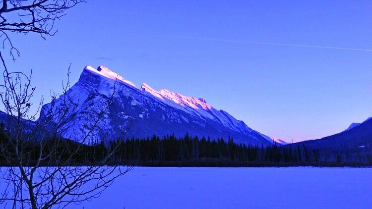photo, image, frozen vermilion lake, rocky mountains