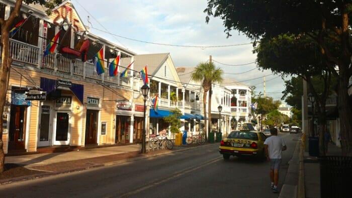 Duval Street in Key West.
