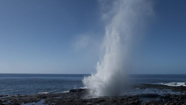 Spouting Horn in south Kauai.