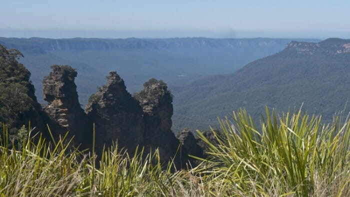 View of the Three Sisters from Echo Point.