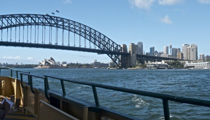 View of Sydney Harbour from ferry.