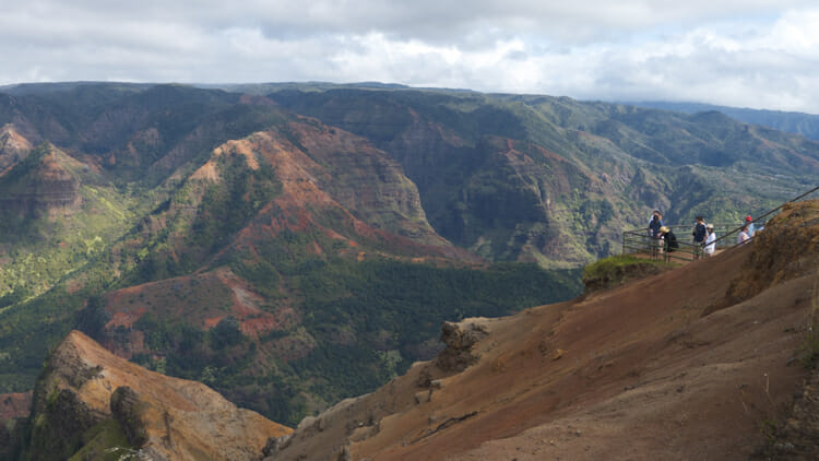 Waimea Canyon is considered the Grand Canyon of the Pacific. It's accessed from the west side of Kauai.