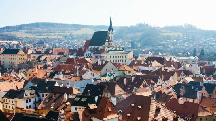 photo, image, view of town, cesky krumlov, czech republic