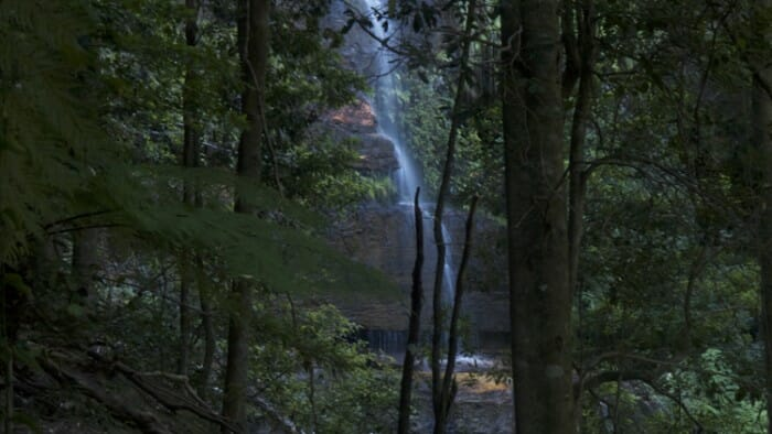 A waterfall view from the Furber Steps.