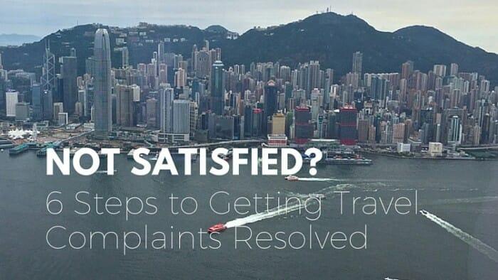 resolve travel complaints