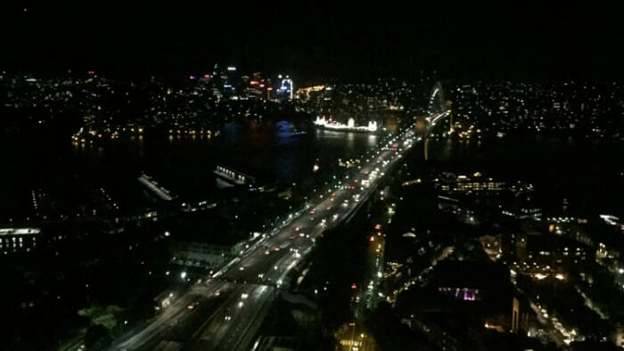 Night View of the Harbour Bridge from Shangri-La