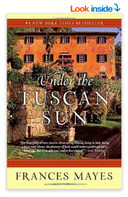 Under the Tuscan Sun is on Amazon.