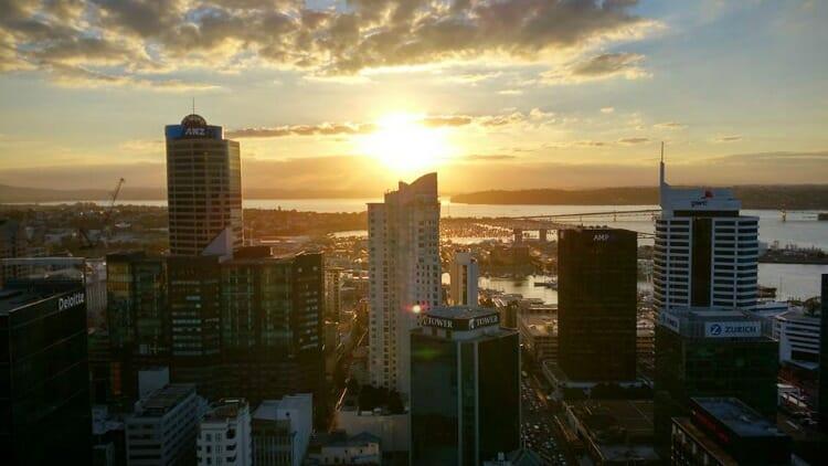 photo, image, sunset, auckland, new zealand