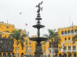Main Square - Plaza de Armas (Plaza Mayor) of Lima Peru
