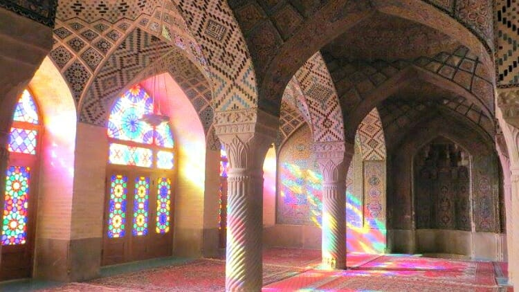 photo, image, pink mosque, shiraz, iran