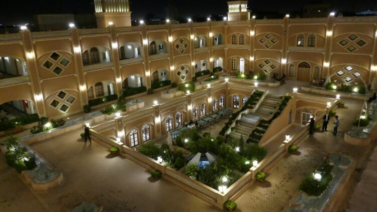 photo, image, hotel courtyard, iran