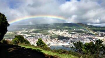 photo, image, rainbow, portugal, terceira island