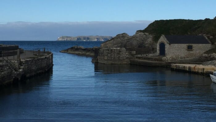 Ballintoy Harbour. This is one of the shooting locations for Game of Thrones.