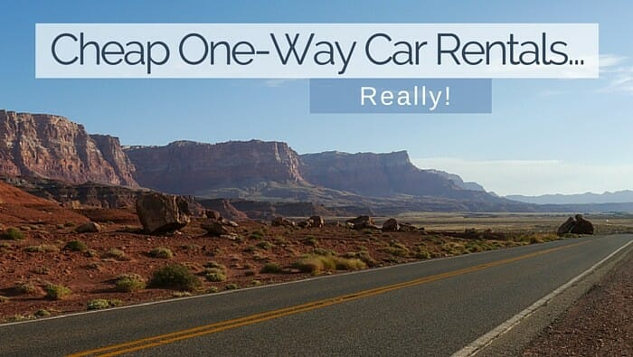 Cheap One Way Car Rentals