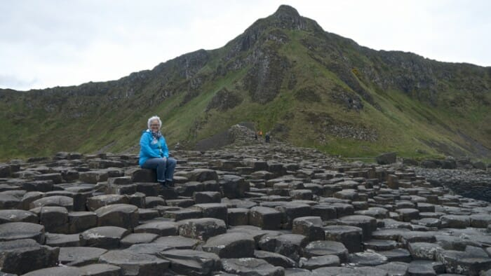 Sitting on the Giant's Causeway. Really, photos do not do it justice!