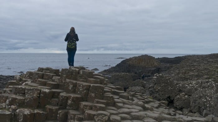 Another solo traveler on the Giant's Causeway.