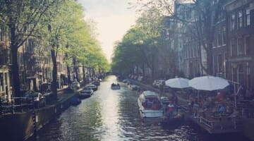 photo, image, canal in amsterdam, netherlands
