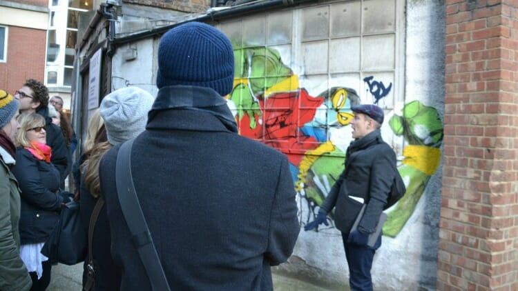 photo, image, graffiti tour guide, east end london