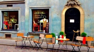 photo, image, warsaw cafe, poland