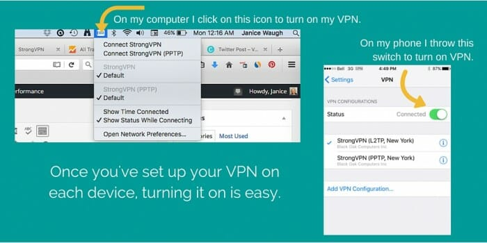 Turn on VPN