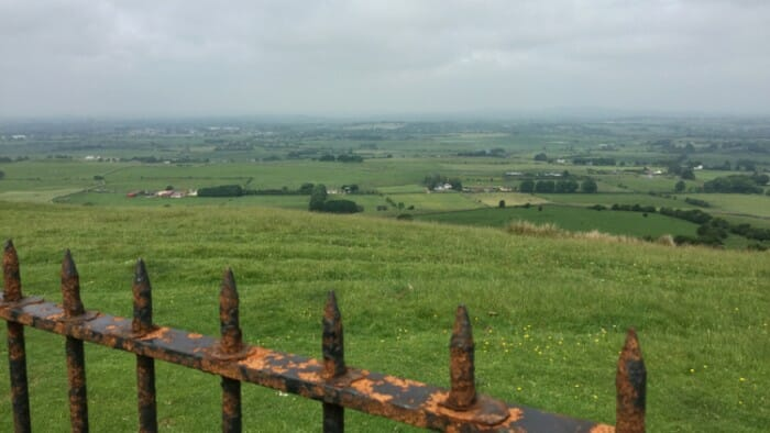 Beautiful views in all directions at Loughcrew.