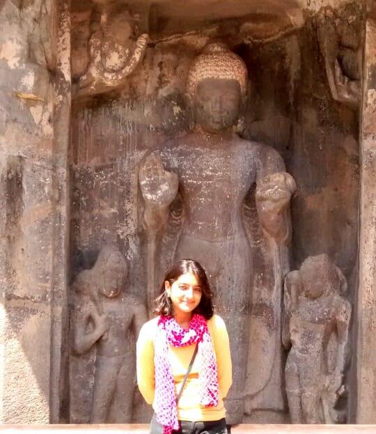 photo, image, statue of buddha, ajanta and ellora caves, india