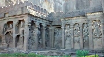 photo, image, kailasa temple, ajanta and ellora caves, india