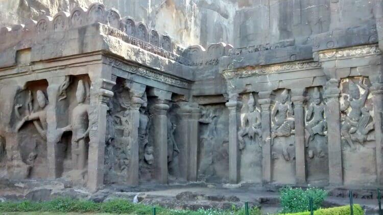 photo, image, kailasa temple, ajanta and ellora caves, india