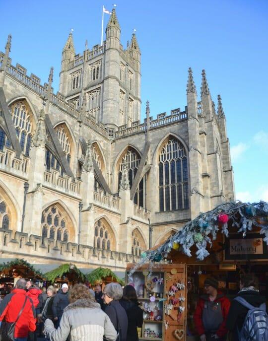 photo, image, bath abbey, bathe christmas market