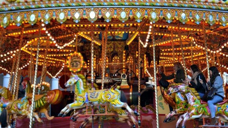 photo, image, carousel, bath christmas market