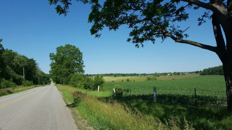 photo, image, oxford county cheese trail, country road