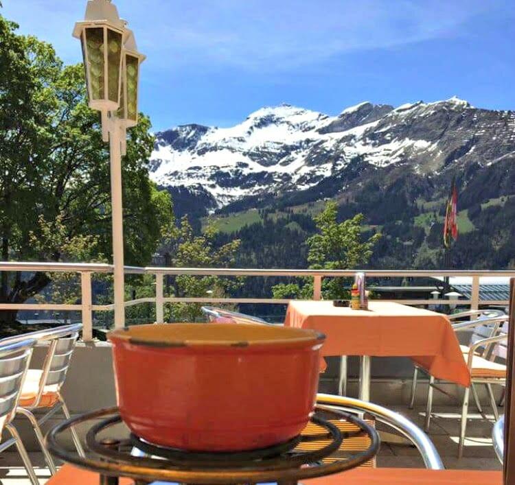 photo, image, fondue wengen, switzerland