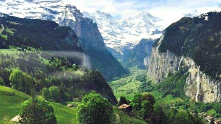 photo, image, mountains, wengen, switzerland