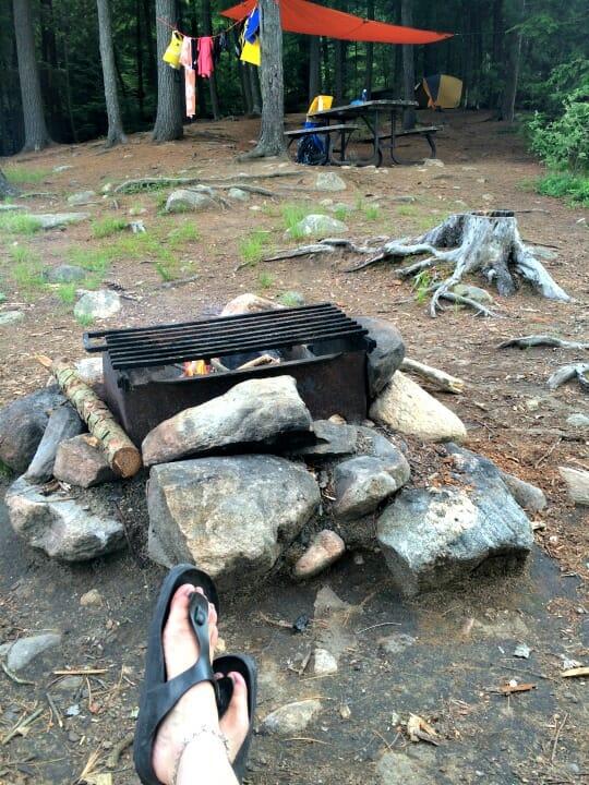 photo, image, campfire, solo camping trip