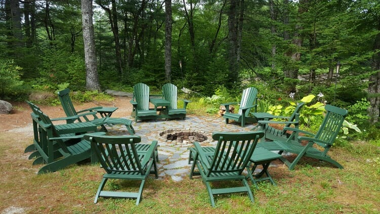 photo, image, fire pit, trout point lodge