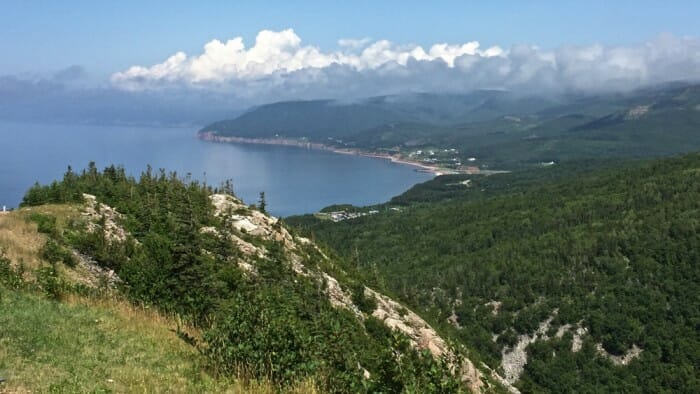 Just one of the many incredible views on the Cabot Trail.