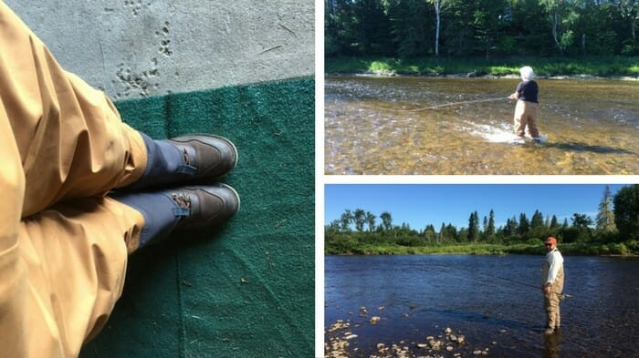 Flyfishing on the Miramichi.