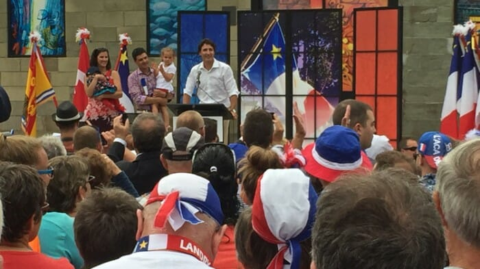 Prime Minister Justin Trudeau joined the festivities for the Tentamare in Caraquet on August 15th.
