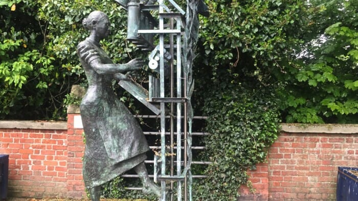 The Millie statue in Lisburn.