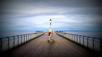 photo, image, pier, penarth, wales