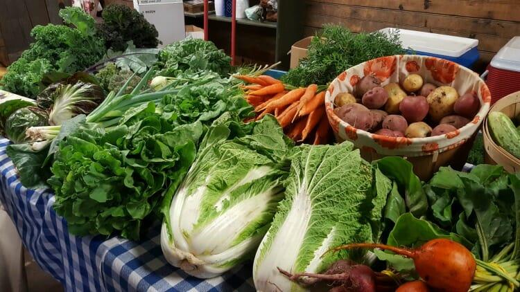photo, image, vegetables, wolfville farmer's market, wolfville, nova scotia