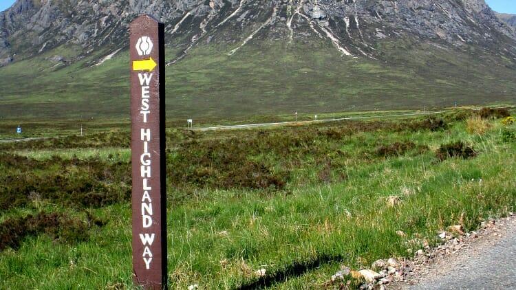 photo, image, signpost, west highland way, scotland