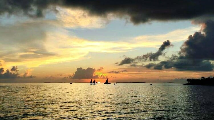 photo, image, sunset, key west, florida keys, usa