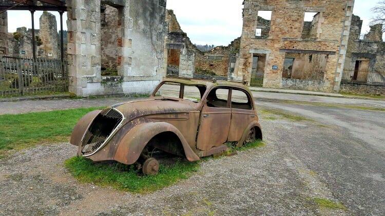 photo, image, car, oradour-sur-glane, france