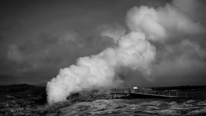 steam pillar, iceland photos